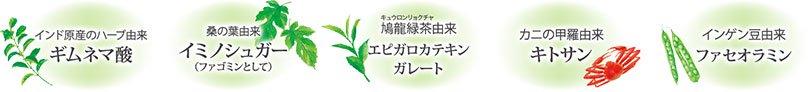 從匙羹藤酸印度本土草藥/桑從Iminoshuga葉子(如桑葉生物鹼)/柳鳩綠茶來自與phaseolamin殼聚醣/豆衍生兒茶素/蟹殼來源的